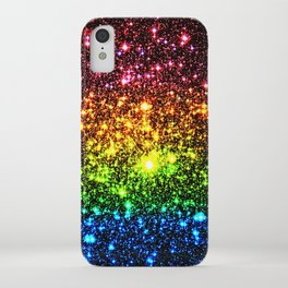 Rainbow Sparkle Galaxy Stars iPhone Case