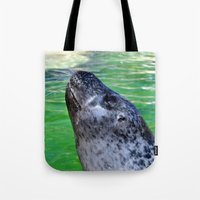 seal Tote Bags featuring seal by  Agostino Lo Coco