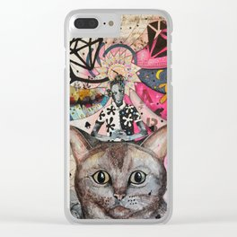 """Cat"" illustration Clear iPhone Case"