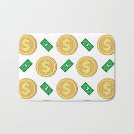Dollar pattern background Bath Mat