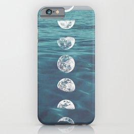Moon on Blue Ocean iPhone Case