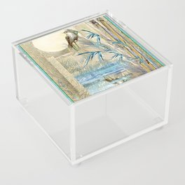 Bamboo Moon with One Acrylic Box