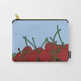 Cherries in a Bowl (Black Ring) Carry-All Pouch