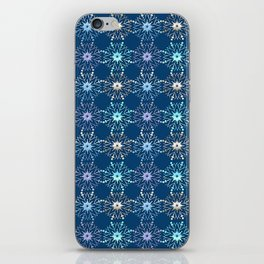 Christmas holiday snowflakes pattern. iPhone Skin