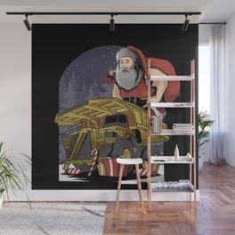 Santa Claus Dump Truck Wall Mural