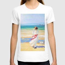 12,000pixel-500dpi - Sir John Lavery - A Windy Day - Digital Remastered Edition T-shirt