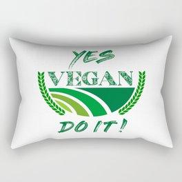 Yes Vegan Do It Rectangular Pillow