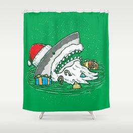 The Santa Shark Shower Curtain
