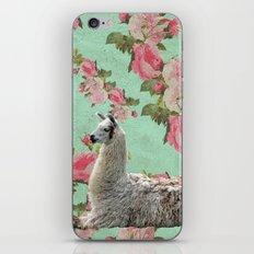 Floral Llama iPhone & iPod Skin