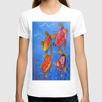 swimming T-shirts featuring Swimming by Montes Arte Mexicano