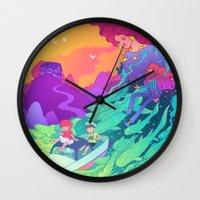 ponyo Wall Clocks featuring Ponyo by Jen Bartel