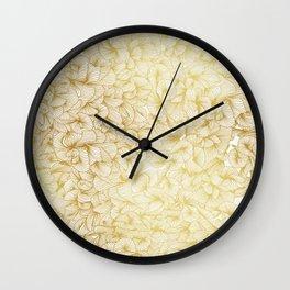 Gold Inklings Wall Clock