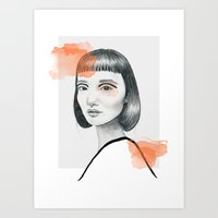 Did you say something? Art Print