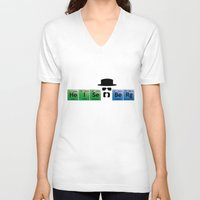 heisenberg V-neck T-shirts featuring Heisenberg by Solar Designs