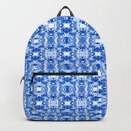 Ocean Ripple Marbling Blue and White Backpack