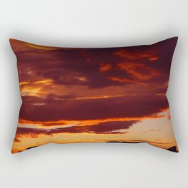 Sunset over the city Rectangular Pillow