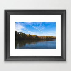 fall reflection Framed Art Print