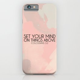 Colossians 3:2 iPhone Case