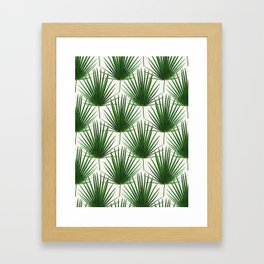Simple Palm Leaf Geometry Framed Art Print