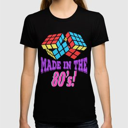 Here's A Great 80's design A Colorful 80's Design Saying MAde In The *0's T-shirt Design Vintage T-shirt