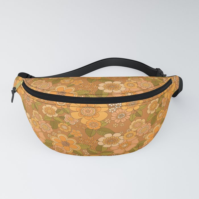 Flower power soft Apricot Fanny Pack