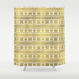 Gold  Aztec Peruvian Tribal Pattern Shower Curtain