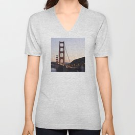 Golden Gate Bridge at Twilight Unisex V-Neck
