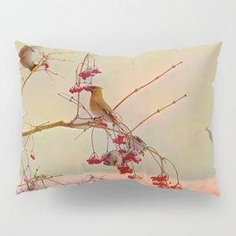 Bird waxwing Pillow Sham