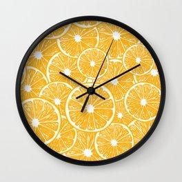 Orange slices pattern design Wall Clock