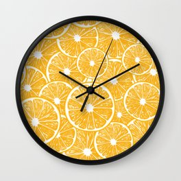Orange slices pattern design Wall Clock