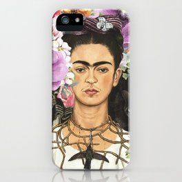 Frida Flower abstract iPhone Case