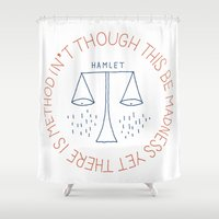 shakespeare Shower Curtains featuring Shakespeare by Tugrul Peker