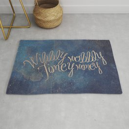 Wibbly wobbly (Doctor Who quote) Rug