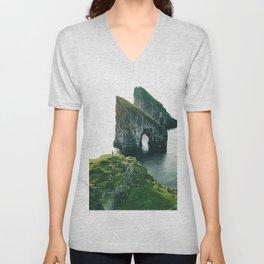 faroe landscape Unisex V-Neck