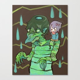 Kappaman and Kuri Canvas Print