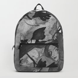 Raven Witch - Black & White Backpack