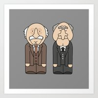 blair waldorf Art Prints featuring Statler & Waldorf – The Muppets by Big Purple Glasses