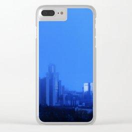 Blue rain Clear iPhone Case