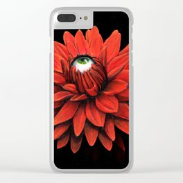 All Seeing Dahlia Clear iPhone Case