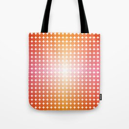 Dotty 02 in Papaya Tote Bag