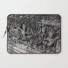 Cambodian Temple Wall Laptop Sleeve
