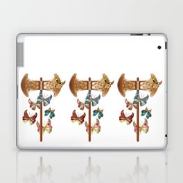 Double Headed Axe Labrys & Butterflies - Transformation Laptop & iPad Skin
