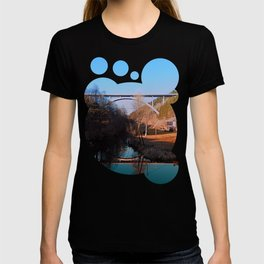 A bridge, the valley and beautiful reflections | Architectural photography T-shirt