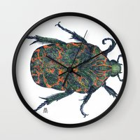 beetle Wall Clocks featuring Beetle by MSRomeiro