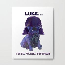 Pug Vader Metal Print