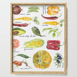 Anna's vegetable market Serving Tray