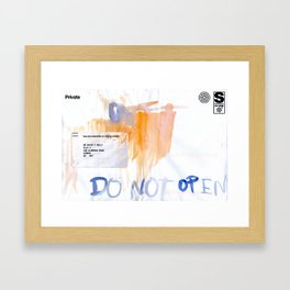 Do Not Open Framed Art Print