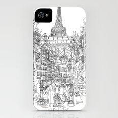 Paris! B&W iPhone (4, 4s) Slim Case