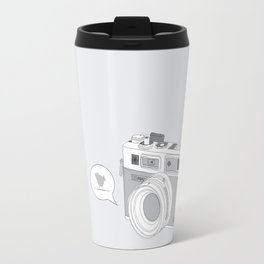 Yashica Camera - blue bird Travel Mug