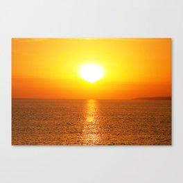marine sunset Canvas Print